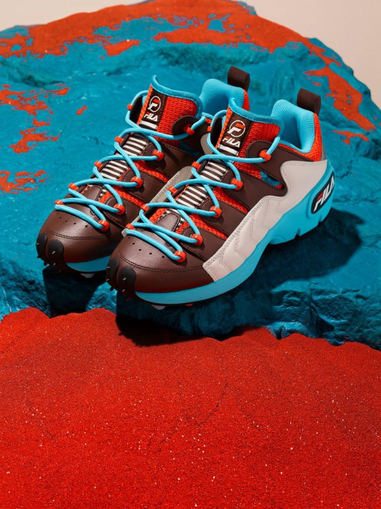 Fila brown and blue sneakers