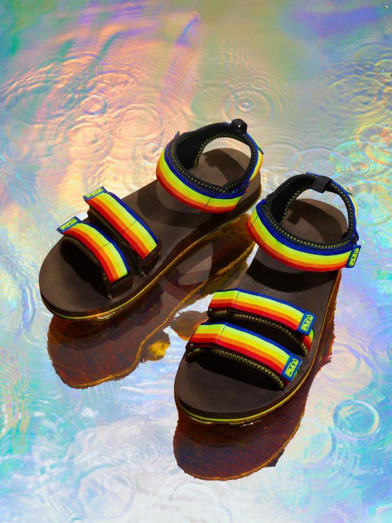 Fila rainbow sandals