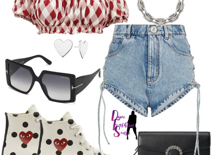Stylish outfit inspiration. Stylish outfit insoiration for the 4th of July.
