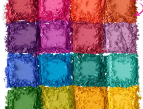 make up for the summer. colorful eyeshadow. nyx