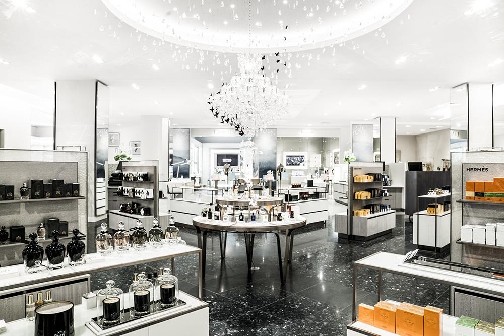 Saks Fifth Avenue reopening. Saks Fifth Avenue. luxury perfume. Great perfume. perfume