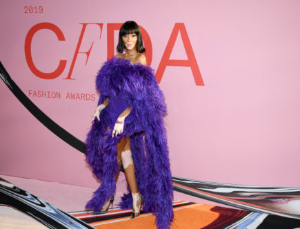 The CFDA fashion awards. winnie harlow. super model