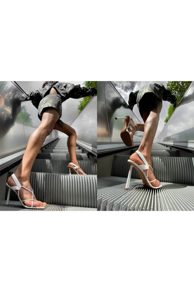 Fenty x Amina Muaddi . Girl in heels.