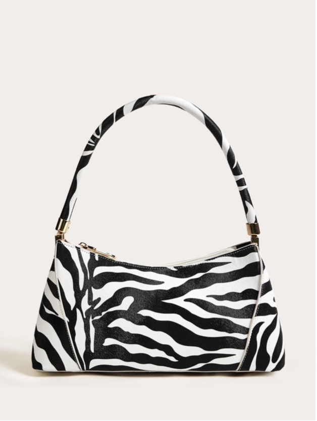Dope Fashion Sense. Girl standing. black and white bag