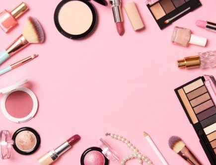 makeup products. Beauty products