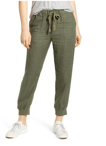 dope fashion sense. dopefashionsense. linen joggers pants. green pants