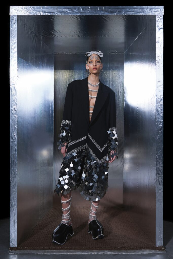 It's easy and crazy to believe that New York-based label AREA used half a million Swarovski crystals to complete their 14 look Couture collection. AREA debuted their first-ever haute couture collection, which was sponsored by, of course, Swarovski.