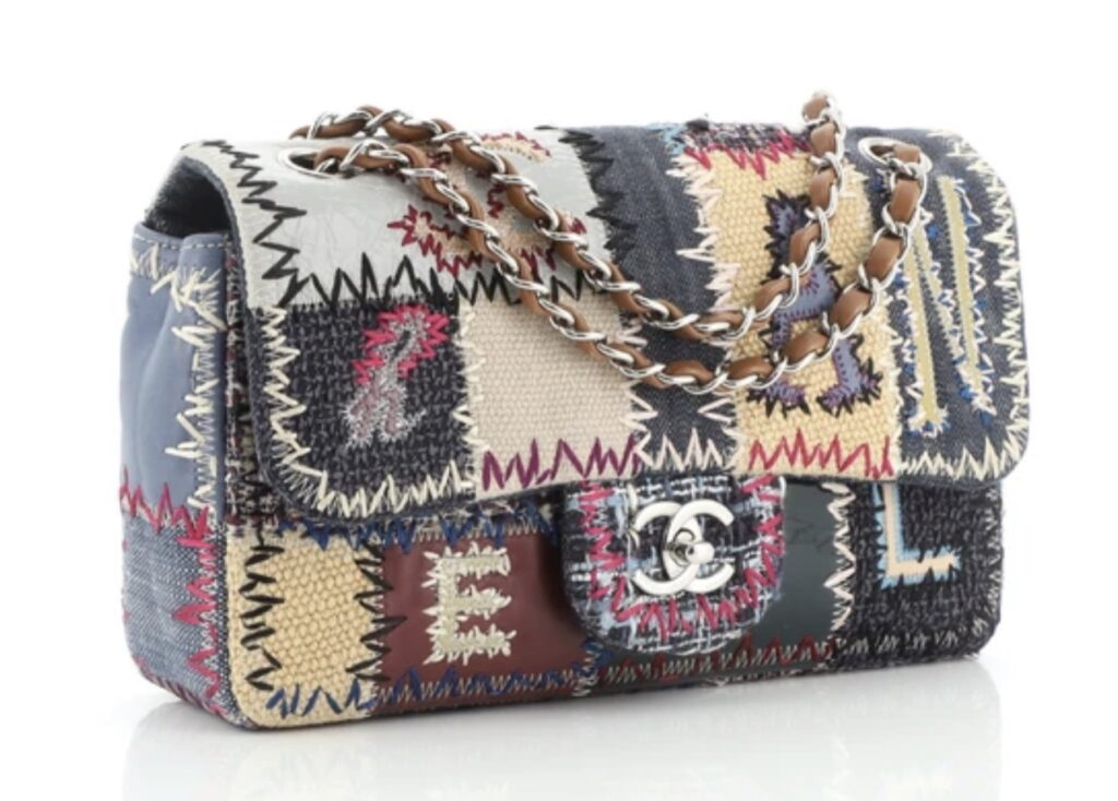 Chanel Flap Bag Multicolor Patchwork Medium